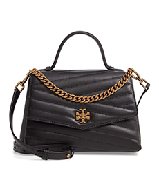 Kira Chevron Quilted Leather Top Handle Satchel TORY BURCH.