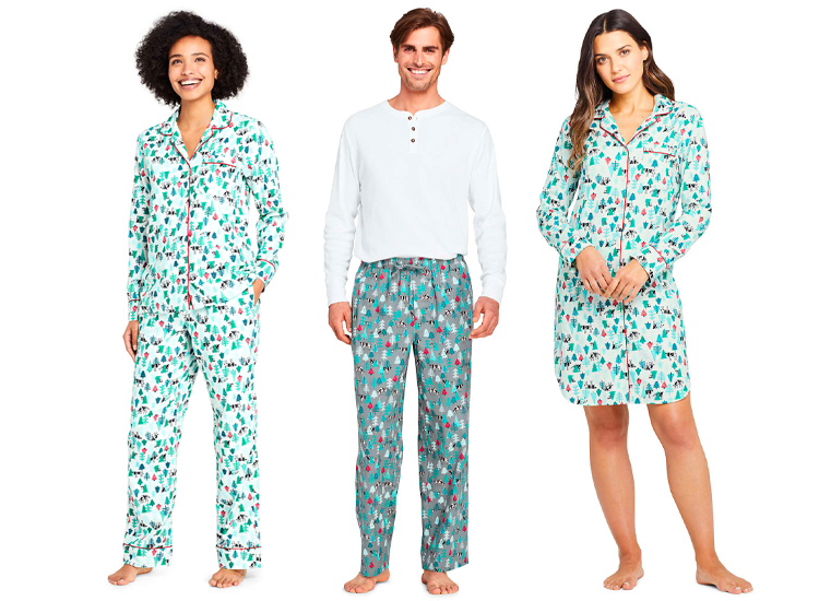 Lands End Print Flannel Pajama.