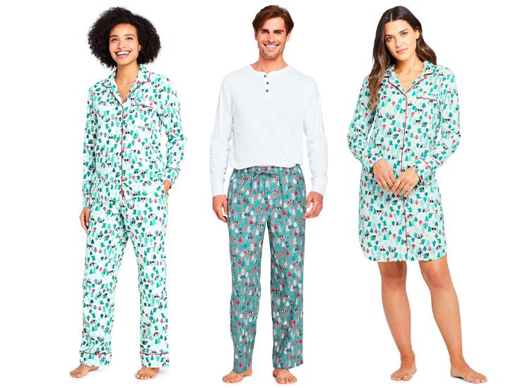 Lands End Print Flannel Pajama.