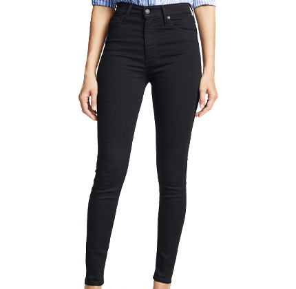 Levi's Mile High Skinny Jeans.