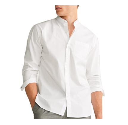 Regular fit stripe-pattern shirt.