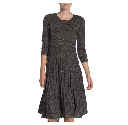 Max Studio Marled Knit Sweater Dress.