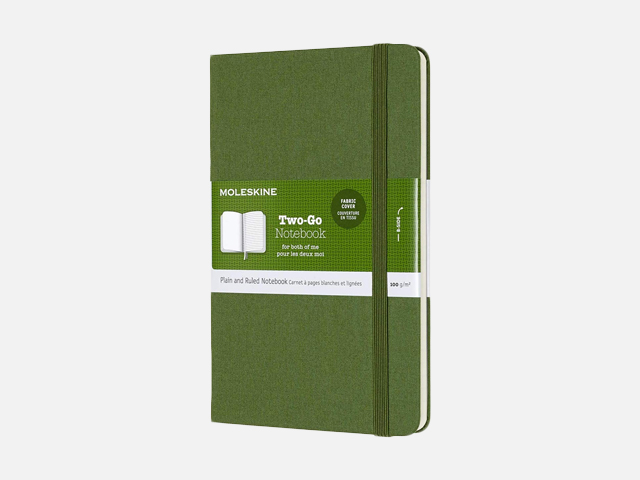 Moleskine Two-Go Textile Notebook.