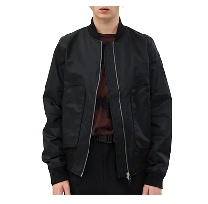 NEED Bennett Bomber Jacket in Black.