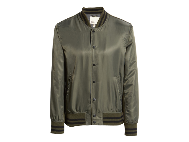 Nylon Varsity Bomber Jacket MILLS SUPPLY BY SPLENDID.