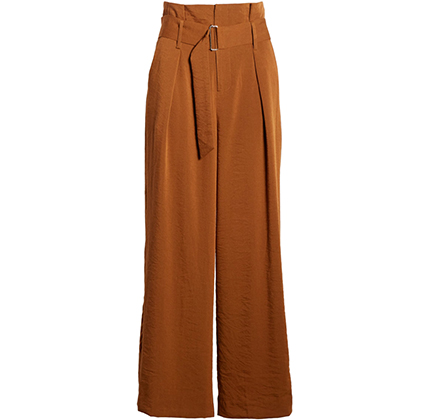 Pleated Wide Leg Crop Trousers J.O.A.