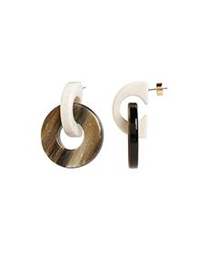 Resin Doorknocker Earring.