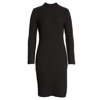 Ribbed Long Sleeve Sweater Dress BP.