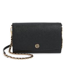 Robinson Leather Wallet on a Chain TORY BURCH.