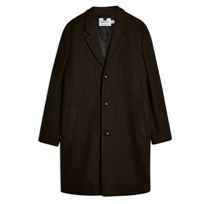 Single Breasted Classic Fit Coat TOPMAN.