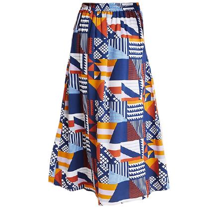 Sofia Abstract Midi Skirt.