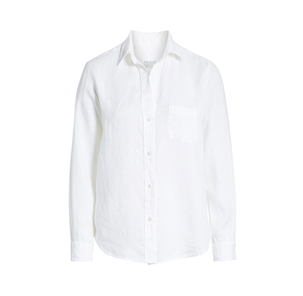 The Hero Tumbled Linen Shirt GRAYSON.