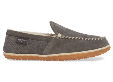 Tilden Moccasin Slipper, Alternate, color, GREY SUEDE Tilden Moccasin Slipper MINNETONKA.