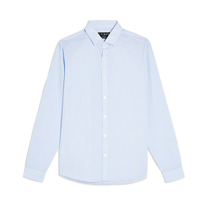 Topman Blue & White Strip Shirt.