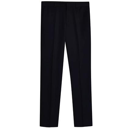 Topman Navy Textured Slim Fit Suit Pants.