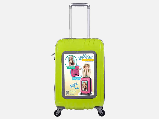 Travelers Club® Selfie Club™ 20-Inch Personalized Hardside Rolling Carry-On in Lime.