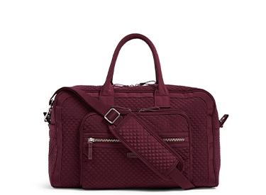 Vera Bradley Iconic Compact Weekender Travel Bag.