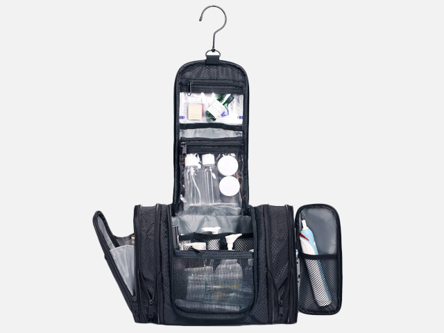 WANDF Expandable Toiletry Bag Hanging Dopp Kit.