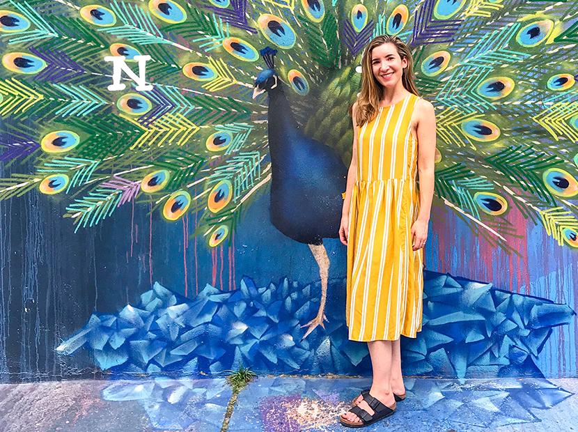 Anne wearing a Rent the Runway dress in Brazil.