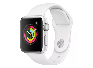 Apple Watch Series 3 (GPS) 38mm Aluminum Case.