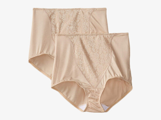 Bali Women's Shapewear Double Support Coordinate Brief with Lace Tummy Panel Light Control 2-Pack.