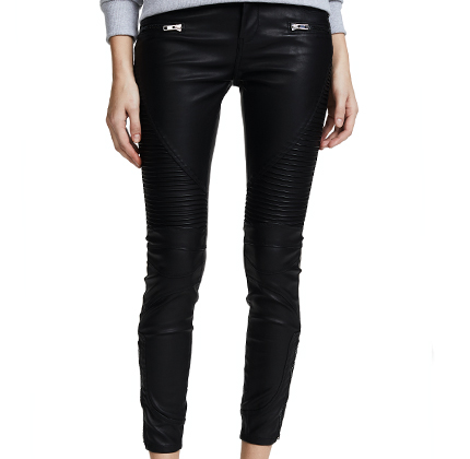 Blank Denim Black Vegan Leather Moto Pants.