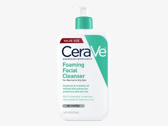 CeraVe Foaming Facial Cleanser.