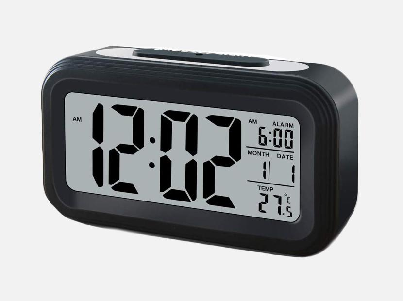 GLOUE Battery Operated Cordless Digital Alarm Clock.
