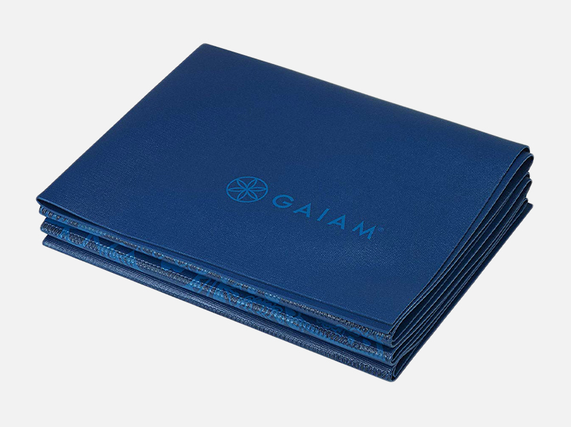 Gaiam Yoga Mat Folding Travel Fitness & Exercise Mat.