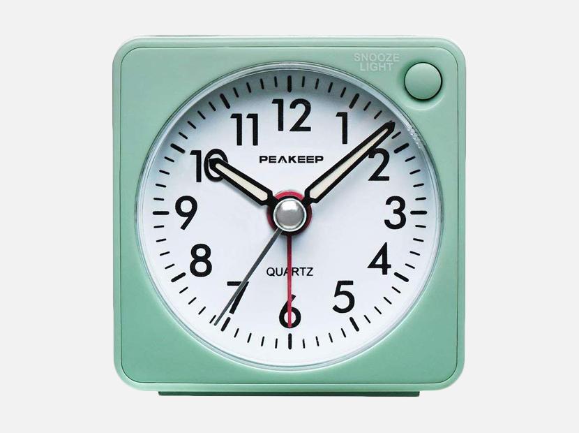 Peakeep Ultra Small, Battery Travel Alarm Clock.