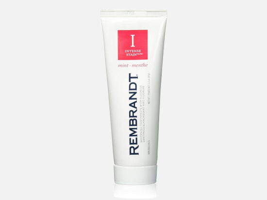 Rembrandt Toothpaste, Intense Stain, Mint Flavor, 3.52-Ounce Tubes (Pack of 3).