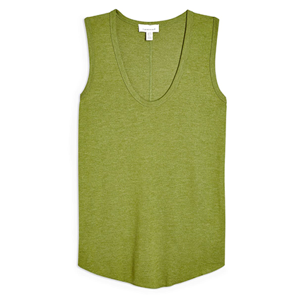 Green tank top for women