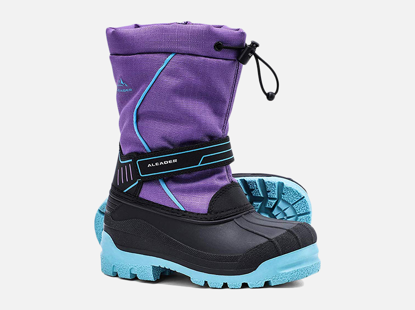 ALEADER Boys Girls Insulated Waterproof Cold-Weather Snow Boots.