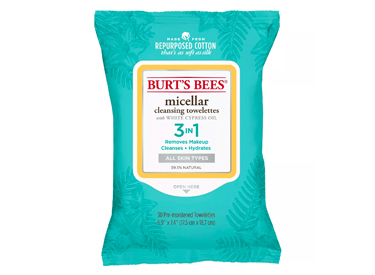 Burt's Bees Micellar Cleansing Towelettes.