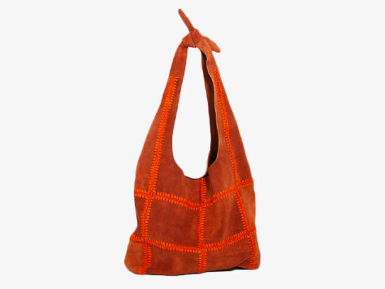 Heritage Suede Hobo Bag.
