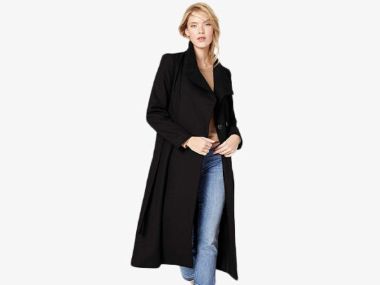 Kenneth Cole New York Women's Full Length Button Fencer Coat.