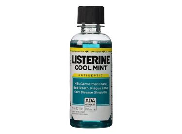Listerine Cool Mint Antiseptic Mouthwash Travel Size 3.2 Ounces.