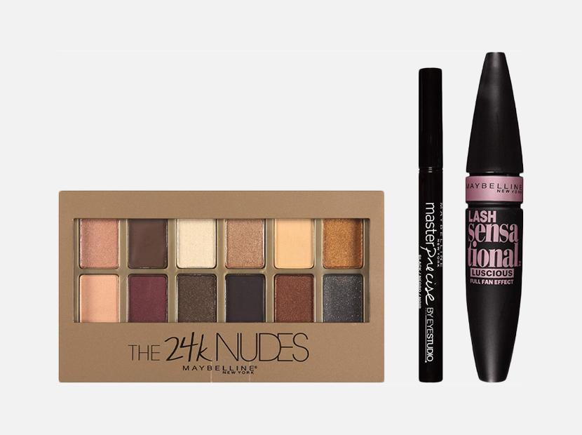 Maybelline New York Ny Minute Mascara Smoky Eye Makeup Gift Set.