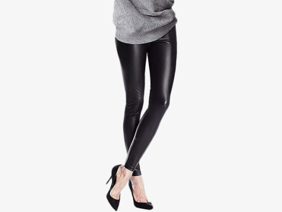 Tagoo Women's Stretchy Faux Leather Leggings.