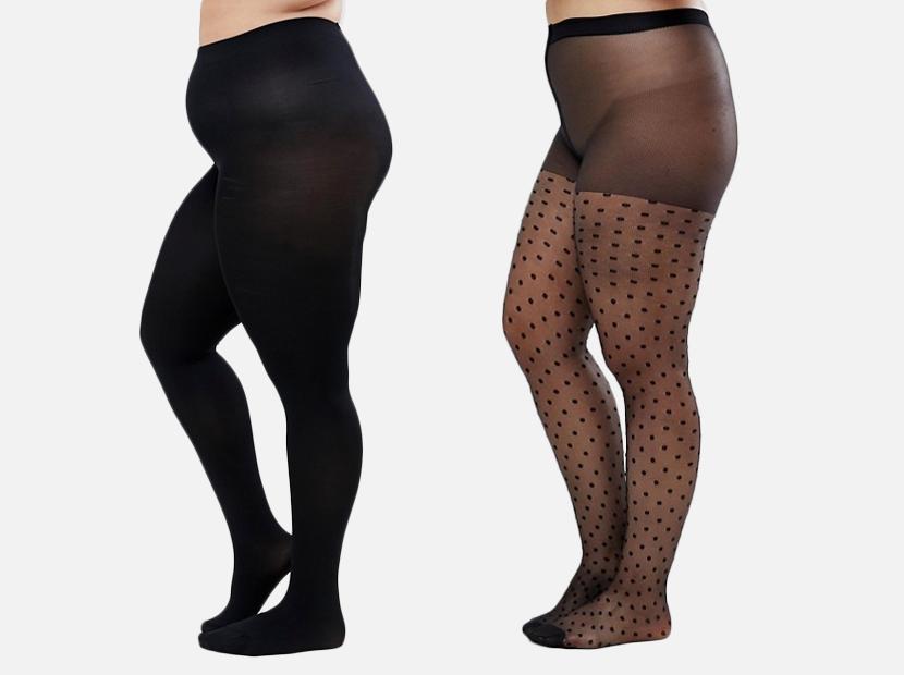 ASOS DESIGN Curve 120 denier black tights.