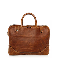 Frye Logan Slim Leather Briefcase.