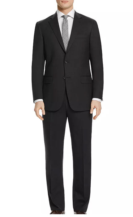 Hart Schaffner Marx Solid Basic New York Classic Fit Suit.