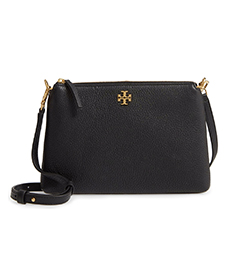 Kira Pebbled Leather Wallet Shoulder Bag TORY BURCH.