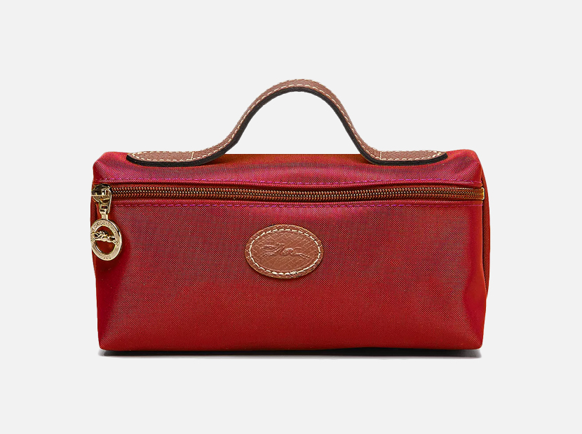 Longchamp Le Pliage Nylon Cosmetics Case.