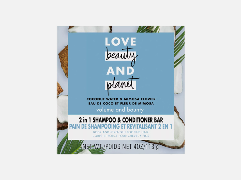 Love Beauty and Planet Coconut Water Shampoo + Conditioner Bar.