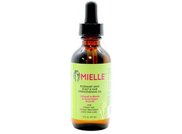 Mielle Rosemary Mint Scalp & Hair Strengthening Oil.