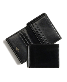 'Old Leather' Money Clip Wallet BOSCA.