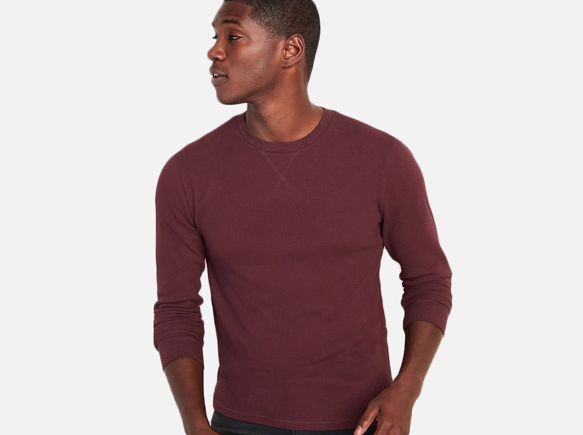 Soft-Washed Thermal-Knit Tee for Men.