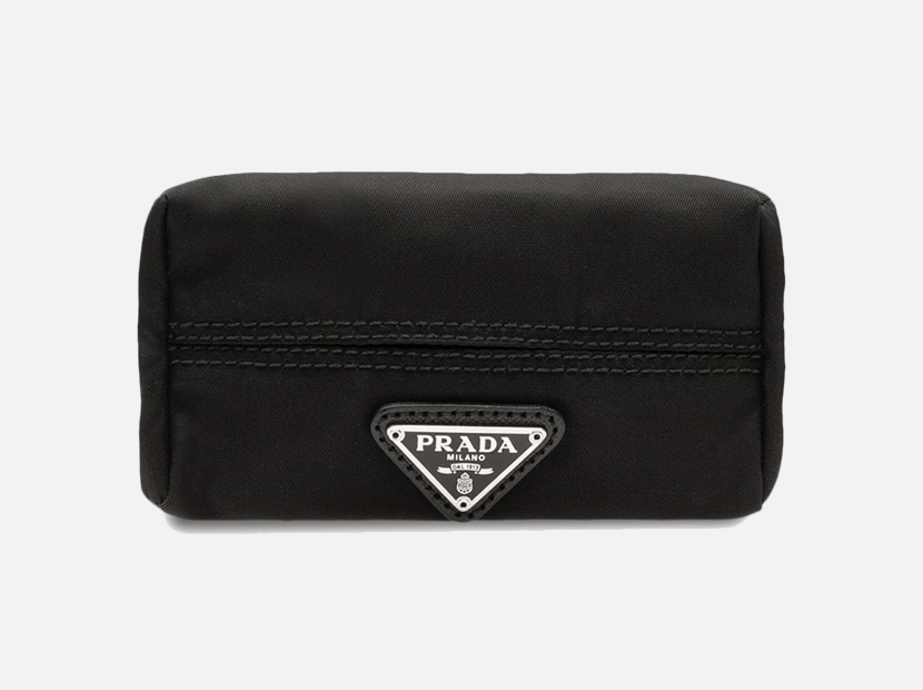 PRADA Fabric Travel Tissue Holder.