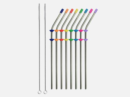 RAINIER Stainless Steel Metal Drinking Straws.
